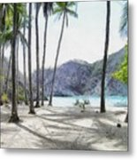 Florida Beach Metal Print