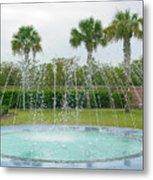 Florida Fountain Metal Print