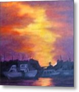 Florida Keyes Sunset Metal Print