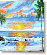 Florida Keys Beach Sunset Metal Print