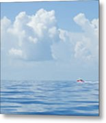 Florida Keys Clouds And Ocean Metal Print