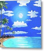 Florida Keys Moon Rise Metal Print