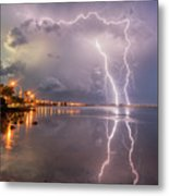 Florida Lightning Metal Print
