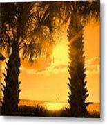 Florida Orange Metal Print