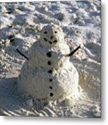 Florida Snowman Metal Print