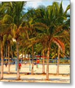 Florida Style Volleyball Metal Print