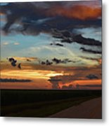 Florida Sunset Winding Road 2 Metal Print
