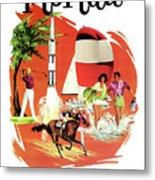 Florida, Vintage Travel Poster Metal Print