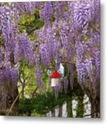 Flower - Wisteria - A House Of My Own Metal Print by Mike Savad