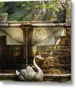 Flower - Wisteria - Fountain Metal Print