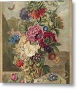 Flower Arrangement, Anthonie Van Den Bos, 1778 - 1838 B Metal Print