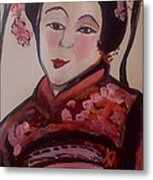 Flower Blossom Was Her Name  Metal Print