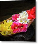 Flower Boat Metal Print