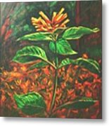 Flower Branch Metal Print
