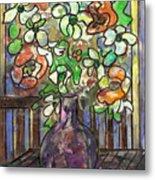 Flower Burst Metal Print by Ethel Vrana