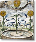 Flower Clock, 1643 Metal Print