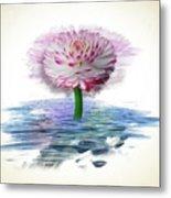 Flower Digital Art Metal Print