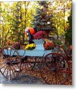 Flower Filled Wagon Metal Print