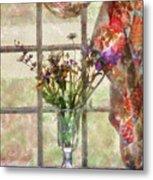Flower - Flower - A Vase Of Flowers  Metal Print