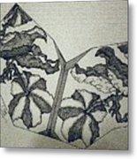 Flower Fossil Metal Print