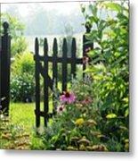 Flower Gate Metal Print