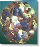 Flower Globe Metal Print
