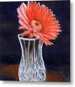 Flower In Crystal Vase Metal Print