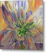 Flower In Morning Light Metal Print