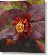 Flower Leaves Metal Print