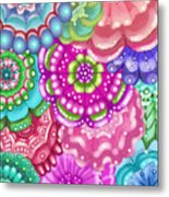 Flower Magic Metal Print