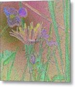 Flower Meadow Line Metal Print