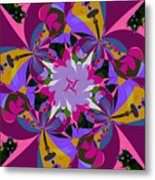 Flower Mont Metal Print