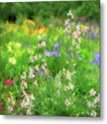 Flower Mosaic Metal Print