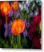 Flower Motion Metal Print