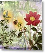 Flower-n Metal Print