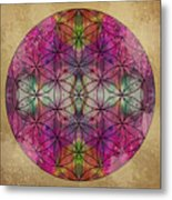 Flower Of Life Metal Print by Filippo B