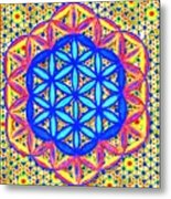 Flower Of Life Fractle Metal Print