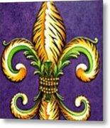 Flower Of New Orleans Lsu Metal Print