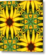 Flower Pattern Metal Print
