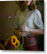 Flower Peddler Metal Print