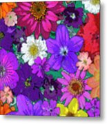 Flower Pond Vertical Metal Print