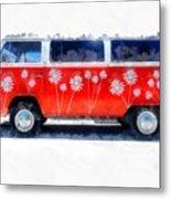 Flower Power Van Metal Print