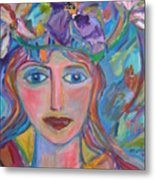 Flower Princess Metal Print