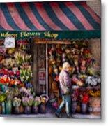 Flower Shop - Ny - Chelsea - Hudson Flower Shop  Metal Print