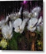Flower Shop Window 3 Metal Print