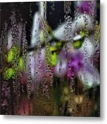 Flower Shop Window 4 Metal Print