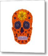 Flower Skull 1 Metal Print