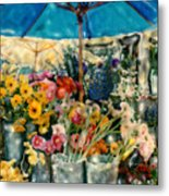 Flower Stand Metal Print