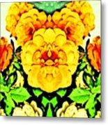 Flower Teddy Metal Print