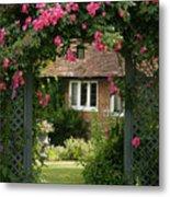 Flower Trellis England Metal Print